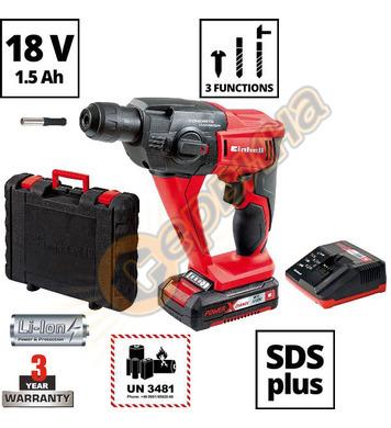 Акумулаторен перфоратор Einhell TE-HD 18 Li-Kit 4513810 - 18