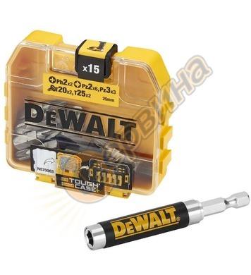 Комплект накрайници и магнитен адаптер DeWalt DT71511 - 16ча