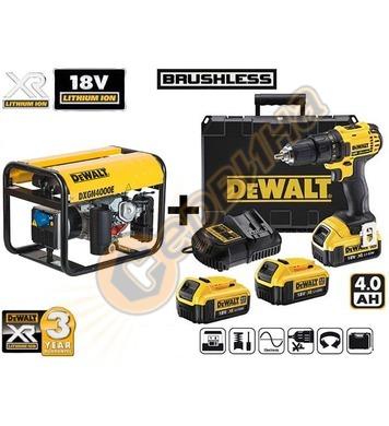 Бензинов генератор DeWalt DXGN4000E - 3.4kW + акумулаторен в