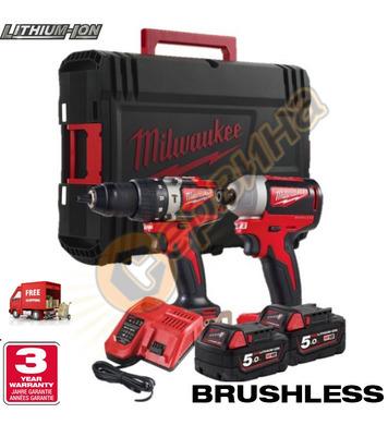 Комплект акумулаторни инструменти Milwaukee M18 BLPP2A2-502X