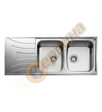 Иноксова мивка за вграждане Teka -гладка, обръщаема, за шкаф