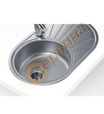 Иноксова мивка Teka DR-77 1C 1E - за вграждане, гладка, обръ