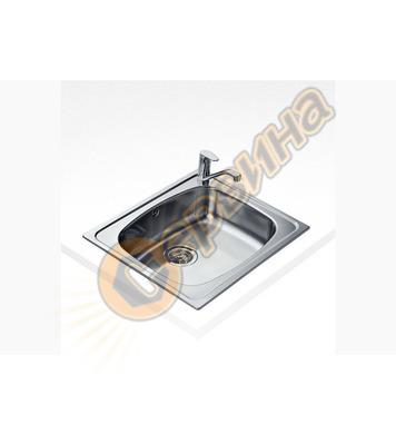 Иноксова мивка Teka UNIVERSO 60 1С - за вграждане, гладка, з