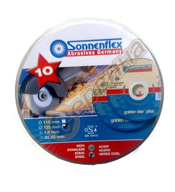 Комплект дискове за шлайфане на метал и инокс Sonnenflex Gol