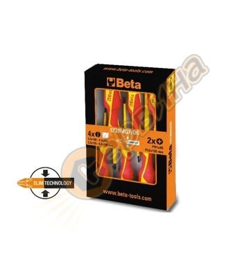 Комплект професионални отвертки Beta 1273MQ/F-D6 - 6бр