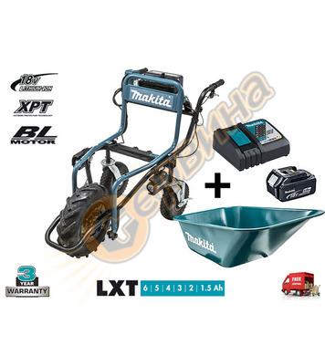 Акумулаторна строителна количка Makita DCU180Z + леген за на