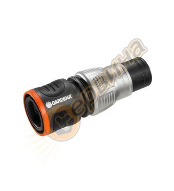 Съединител за маркуч със стоп клапан Gardena Premium 18253-2