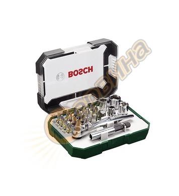 Комплект накрайници и тресчотка Bosch 2607017322 - 26 части