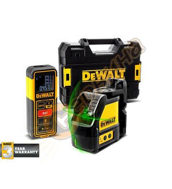 Комплект лазерен нивелир, лазерна ролетка и куфар DeWalt DW0