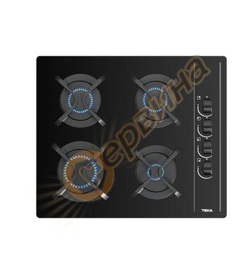 Газов плот Teka GBC 64002 върху закалено стъкло, 4 горелки 1
