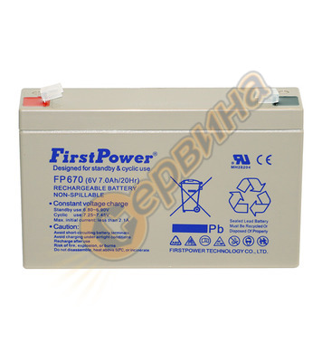 Акумулатор UPS Vrla FirstPower FP670 - 6V/7Ah