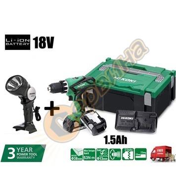 Акумулаторен винтоверт HiKoki-Hitachi DS18DBSL-WNZ 18V + аку
