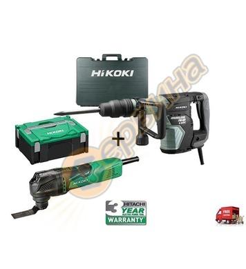 Професионален къртач HiKoki-Hitachi H45ME 1150W + Мултифункц