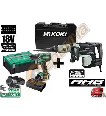 Професионален къртач HiKoki-Hitachi H60MEY 1500W + Ъглошлайф