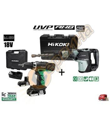 Комбиниран перфоратор HiKoki-Hitachi DH40MEYZ 1150W + Акумул