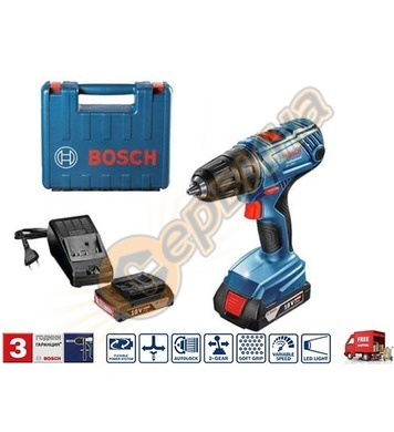 Акумулаторен пробивен винтоверт Bosch GSR 180-LI 06019F8109