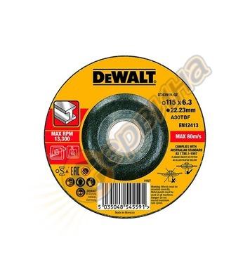 Диск за шлайфане на метал DeWalt DT43916 - 115х22.2мм