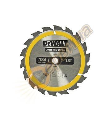 Циркулярен диск за дърво DeWalt DT1938 - 184x16.0мм