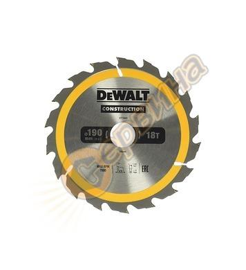 Циркулярен диск за дърво DeWalt DT1943 - 190x30.0мм