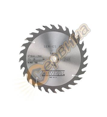 Циркулярен диск за дърво DeWalt DT4031-QZ - 184x16.0мм