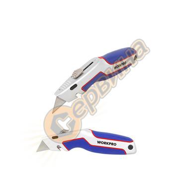 Обезопасен макетен нож  Workpro W013008
