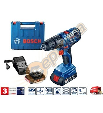 Акумулаторен ударно-пробивен винтоверт Bosch GSB 180-LI 0601