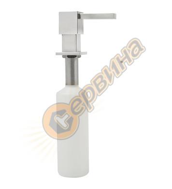 Универсален дозатор за сапун Тека - квадратен, инокс 1158900