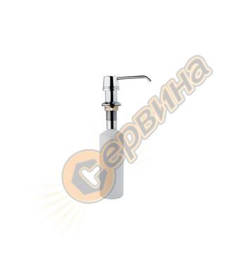 Универсален дозатор за сапун Тека - кръгъл, хром 115890011