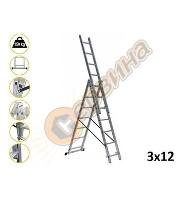 Професионална трираменна алуминиева стълба Drabest 03090312