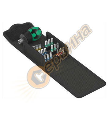 Битове комплект с къса отвертка Wera Kompakt Stubby 1 WERA 0