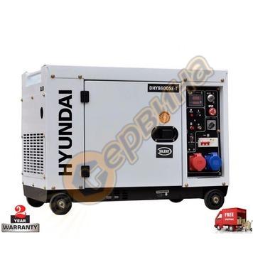 Дизелов трифазен генератор HYUNDAI DHY 8600SE/Т 08118 - 7,9k