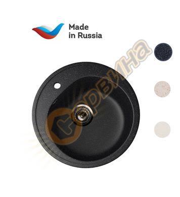 Гранитна мивка за вграждане черна Ulgran U-101/308 - 50см