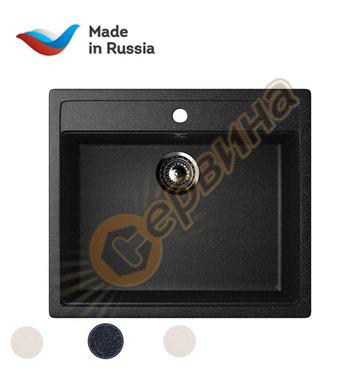 Гранитна мивка за вграждане черна Ulgran U-104/308 - 560x495