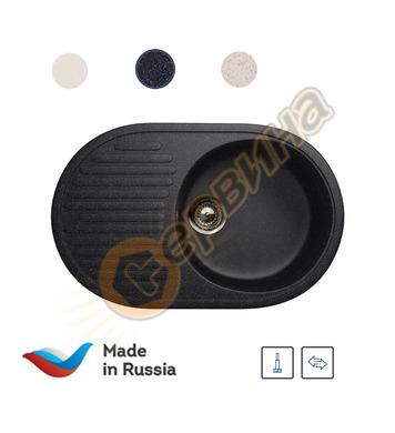 Гранитна мивка за вграждане черна Ulgran U-107/308 - 720x455
