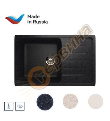 Гранитна мивка за вграждане черна Ulgran U-400/308 - 750x495