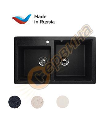 Гранитна мивка за вграждане черна Ulgran U-200/308 - 840x485