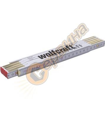 Дървен сгъваем метър Wolfcraft 5227000 - 2м