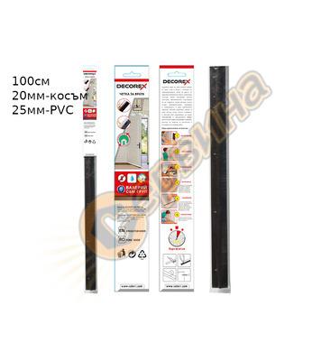 Четка за врата косъм Decorex D28857 100х25мм - Кафявo PVC