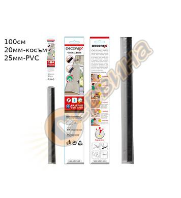 Четка за врата косъм Decorex D28858 100х25мм - Прозрачнo PVC