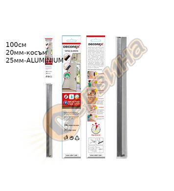 Четка за врата гума Decorex D28979 100х25мм - Бял Алуминий