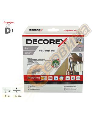 Самозалепващ уплътнител за врати и прозорци тип D Decorex 16