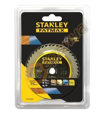 Циркулярен диск за дърво и метал Stanley STA10420 - 89x10мм