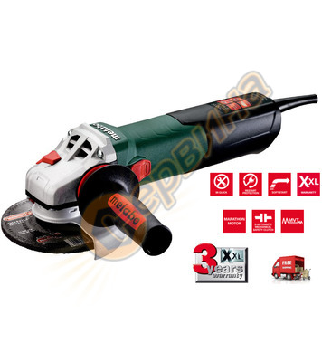 Ъглошлайф Metabo WE 17-125 QUICK 600515000 - 1700W