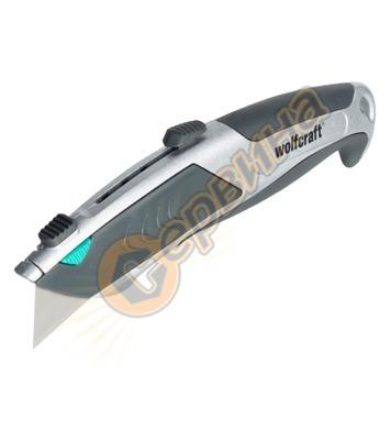 Макетен нож с трапецовидно острие Wolfcraft 4320000 - 61мм