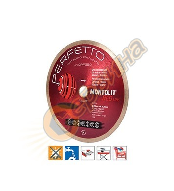 Диамантен диск Montolit CPF250 250х2.0х10х30/25.4мм - порцел