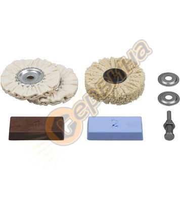 Комплект памучен дорник и диск заполиране Wolfcraft 2179000