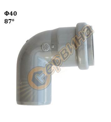 Полипропиленово коляно-дъга Pestan 10200801 - ф40-87.5°