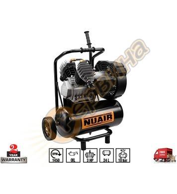 Маслен компресор Fini Nuair GVM/24 PCM 3BXA504NUA - 24л/10ба