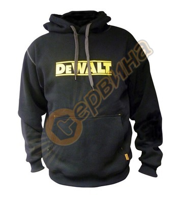 Ватиран суичър DeWalt Hooded Black DWC47-001-L