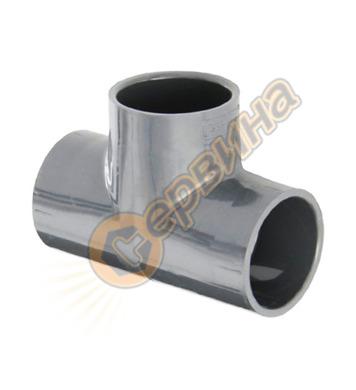 Тройник PVC дебелостенно 36004 - 50х50х50мм